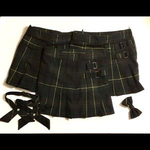 French Toast Plaid Uniform Scooters Bow Cross Ties